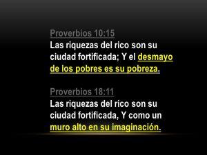 proverbios 10 15