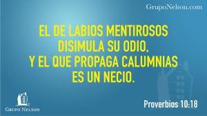 proverbios 10 18