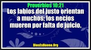 proverbios 10 21