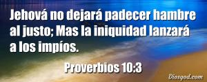 proverbios 10 3