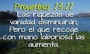 proverbios 13 11