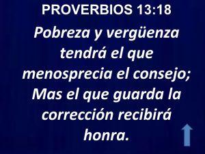 proverbios 13 18