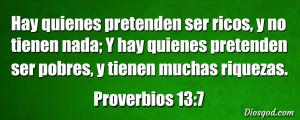 proverbios 13 7