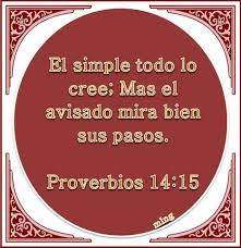 proverbios 14 15