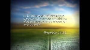 proverbios 14 35
