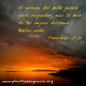 proverbios 15 28