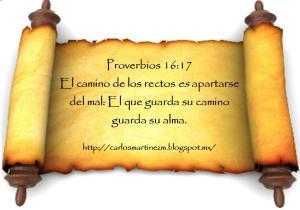 proverbios 16 17a