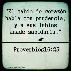 proverbios 16 23
