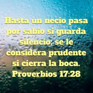 proverbios 17 28