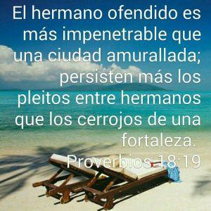proverbios 18 19