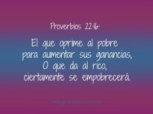 proverbios 22 16