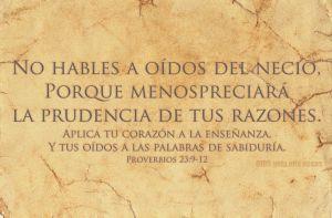 proverbios 23 9-12