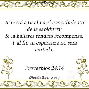 proverbios 24 14