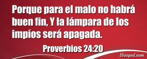 proverbios 24 20