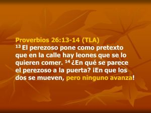 proverbios 26 13-14