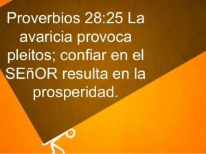 proverbios 28 25