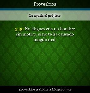 proverbios 3 30