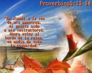 proverbios 5 13-14